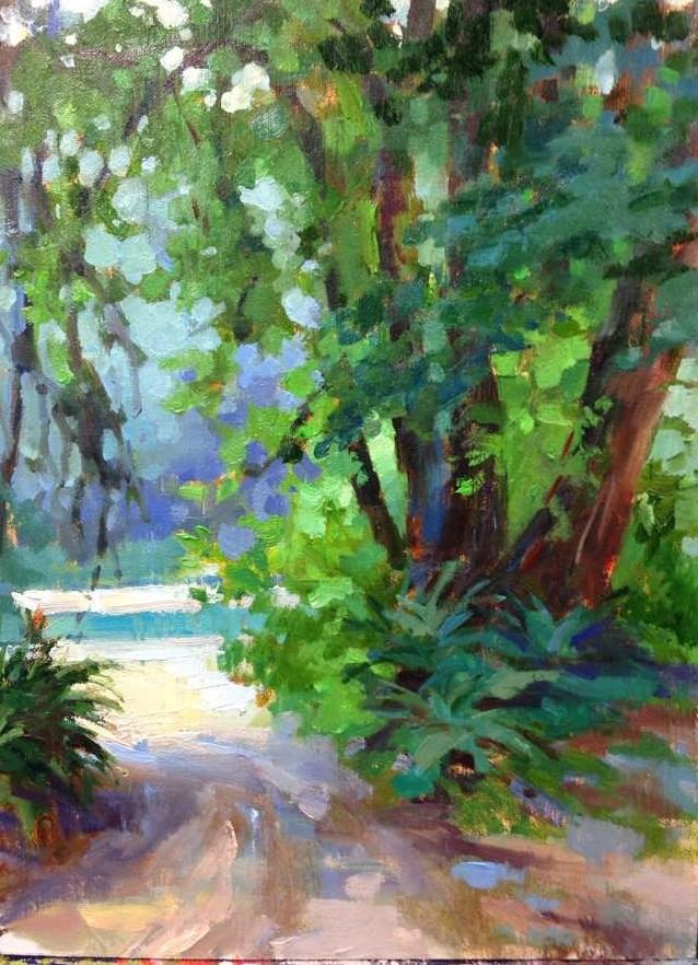 """""""Lake Quinault """" original fine art by Emiliya Lane"""