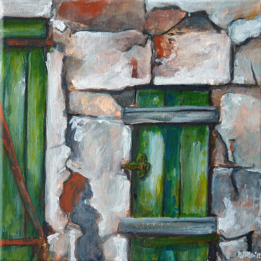 """0408 Shutters Shut - Ladenschluss"" original fine art by Dietmar Stiller"