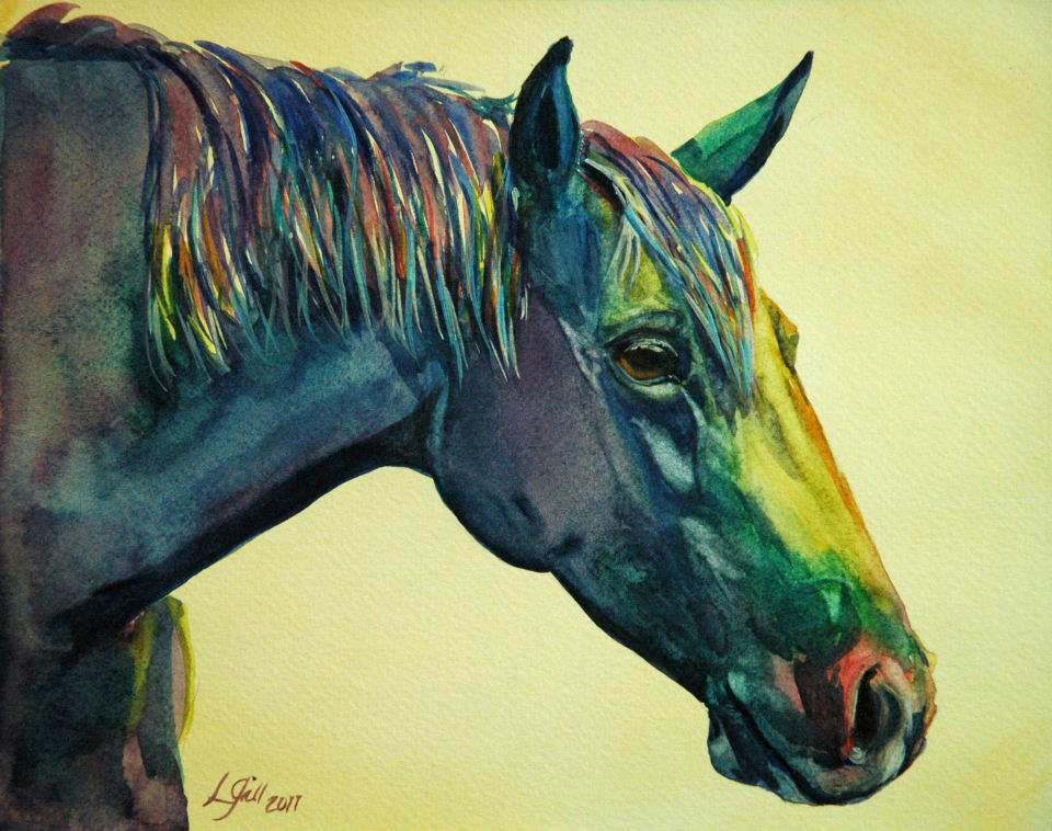 """Paint Pony 18"" original fine art by Lyn Gill"