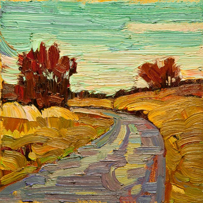 """""""Panama Fields 01: 6x6 oil on panel"""" original fine art by Ken Faulks"""