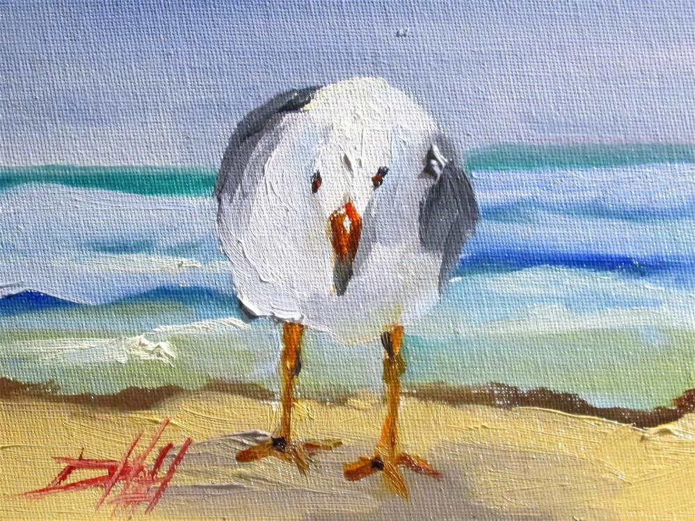 """Gull"" original fine art by Delilah Smith"