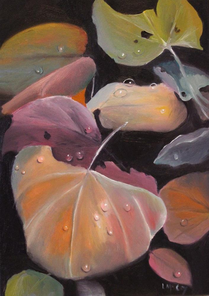 """Fall Leaves on Forest Floor"" original fine art by Linda McCoy"
