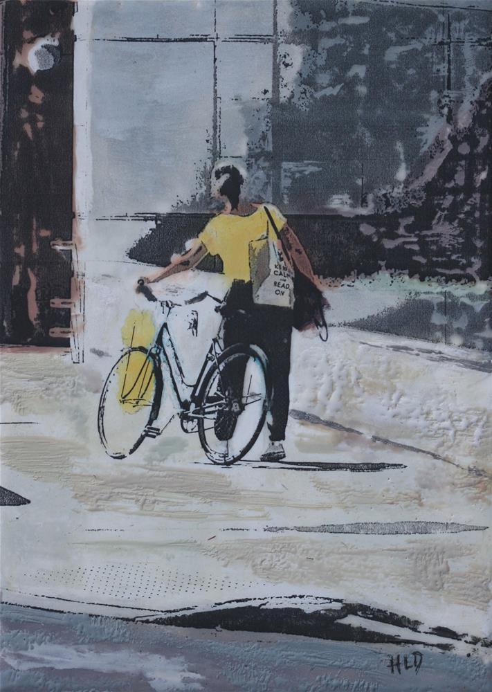 """Bicycle In Hand"" original fine art by Heather Douglas"