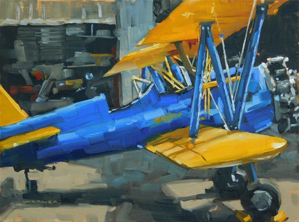 """""""Biplane Beauty"""" original fine art by Karen Werner"""
