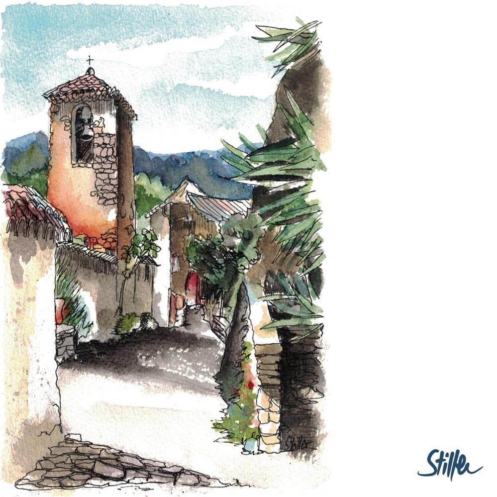 """""""3308 Mountain Village"""" original fine art by Dietmar Stiller"""