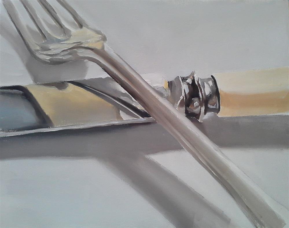 """""""Knife and Fork 2"""" original fine art by James Coates"""