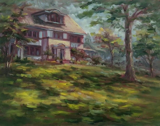 """""""House on the Hill"""" original fine art by Tammie Dickerson"""