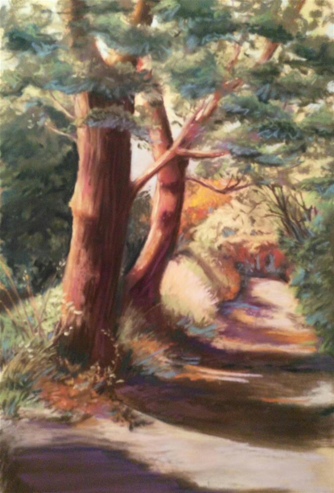 """Down the Lane"" original fine art by Elaine Lynest"