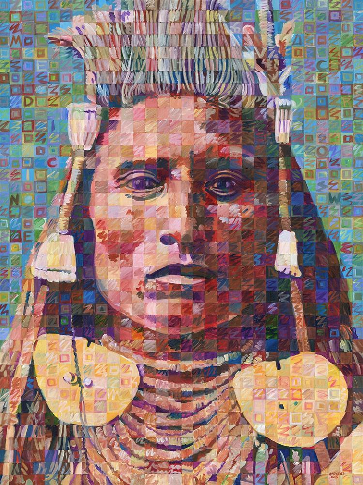 """Great Native American Chiefs – Medicine Crow"" original fine art by Randal Huiskens"