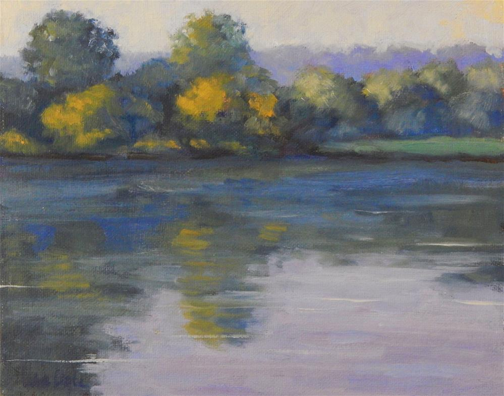 """Morning on the River"" original fine art by Lisa Kyle"