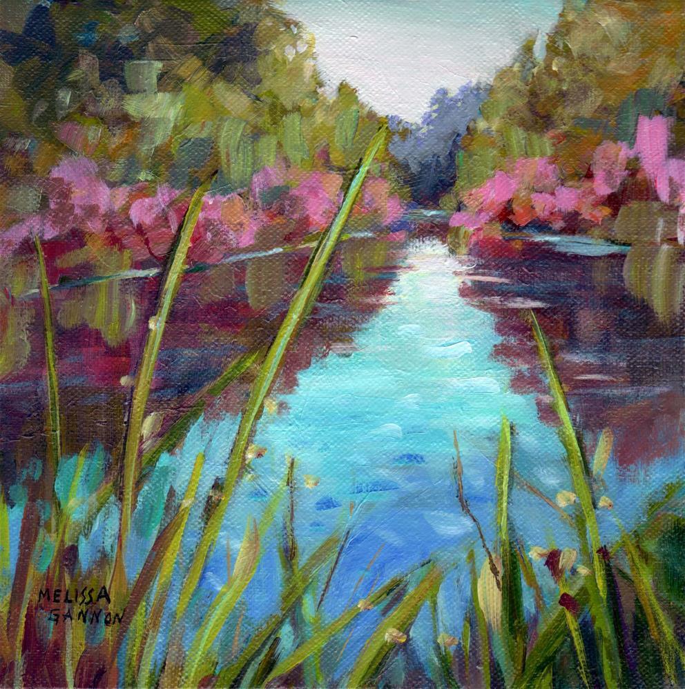 """Dancing Greens & Reds"" original fine art by Melissa Gannon"