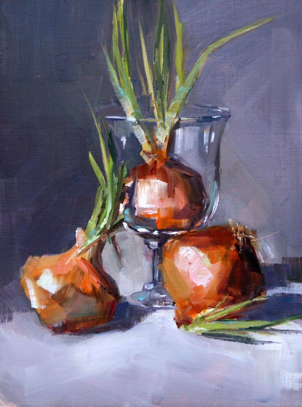 """dehydrated onions"" original fine art by Carol Carmichael"