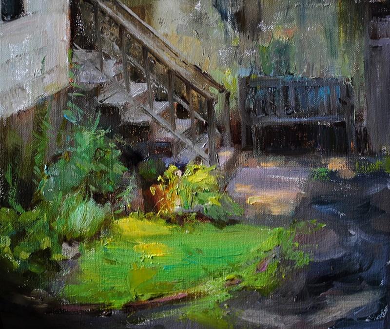 """""""backyard"""" original fine art by Taisia Kuklina"""