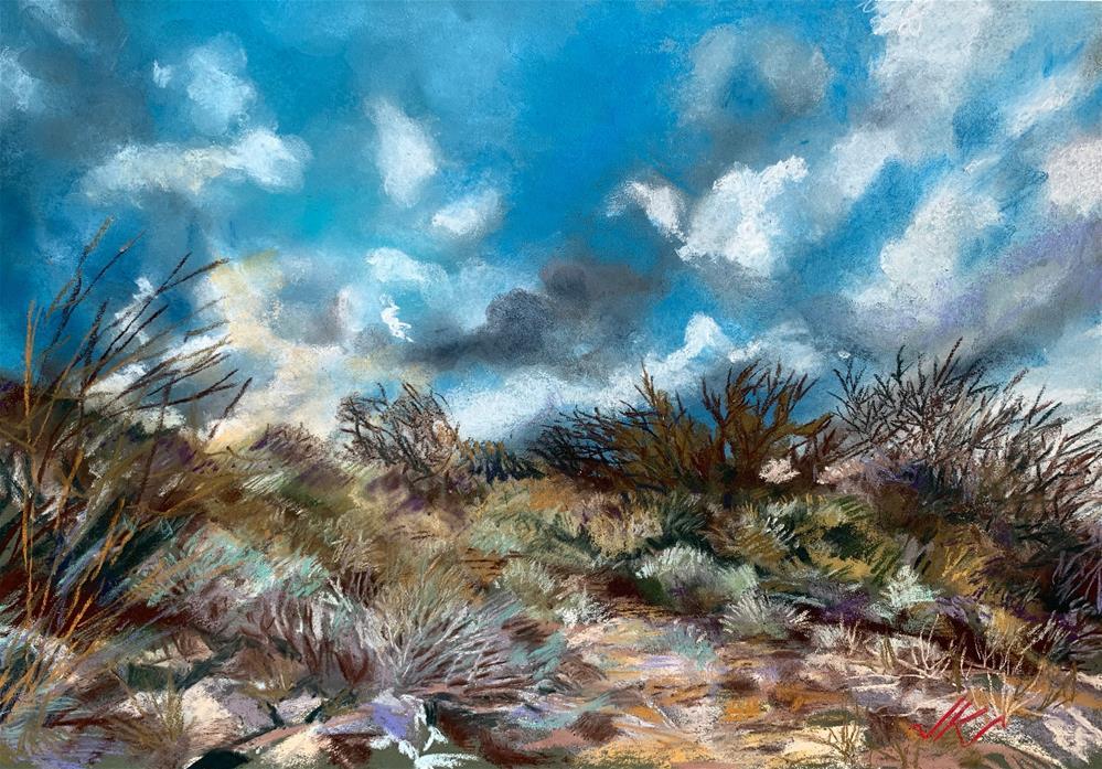 """Up at Lake Pleasant, AZ"" original fine art by Jean Krueger"