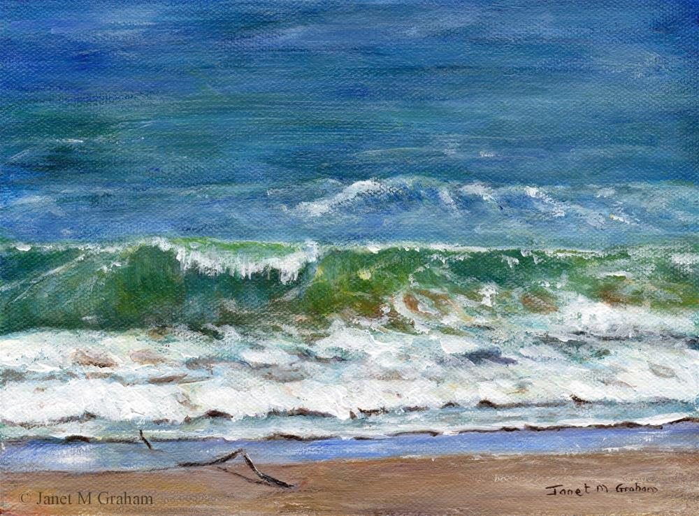 """Margate Beach"" original fine art by Janet Graham"