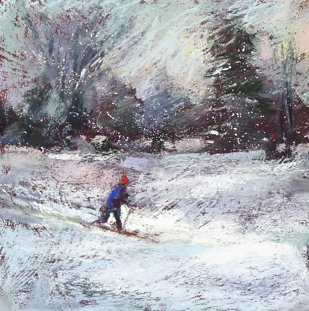 """How to Add a Figure to a Pastel Landscape Painting part 2"" original fine art by Karen Margulis"