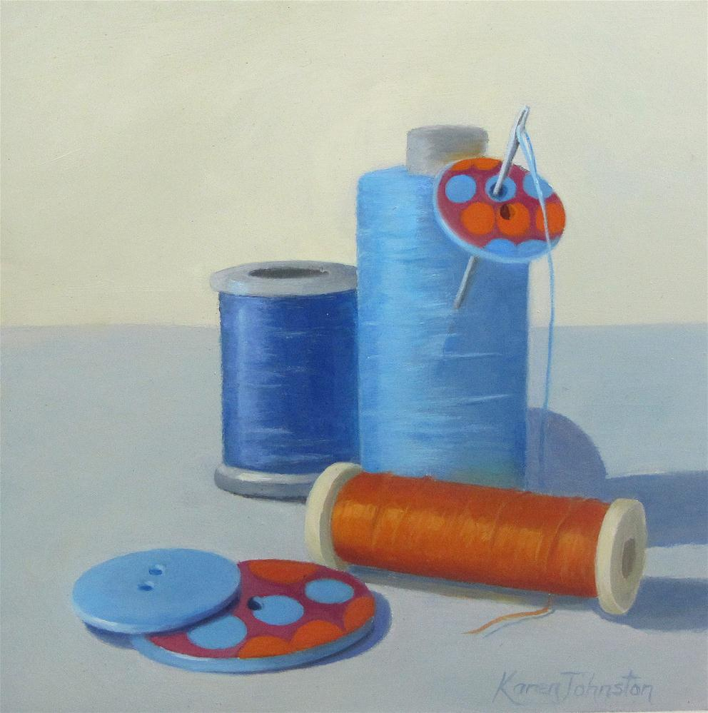 """Complimentary Cottons"" original fine art by Karen Johnston"