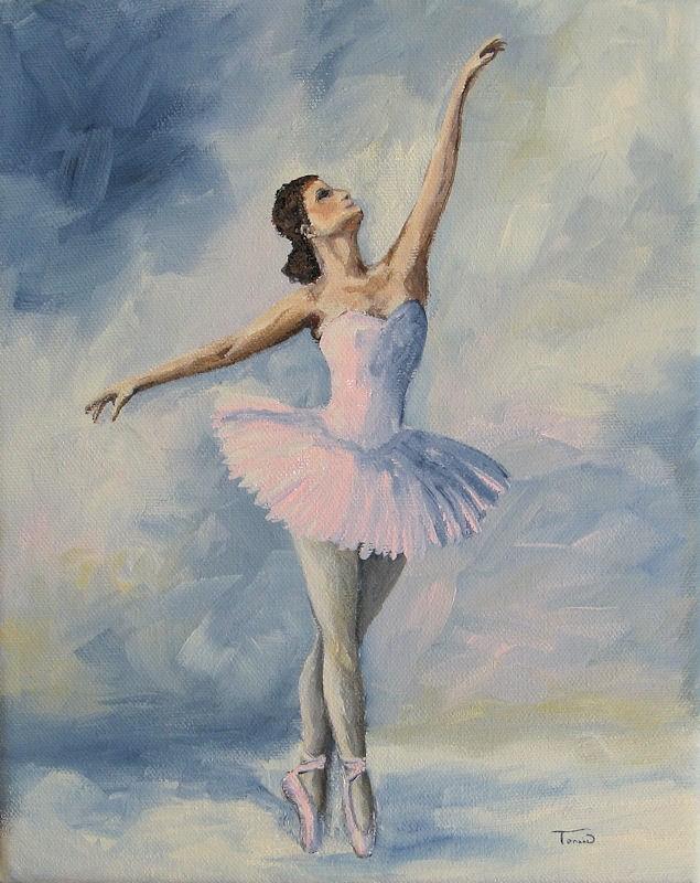 """""""Ballerina 001"""" original fine art by Torrie Smiley"""