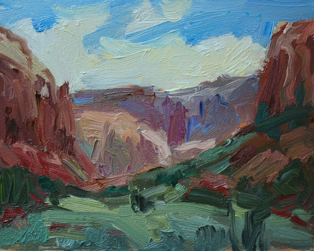 """""""Road to Needles"""" original fine art by Kathryn Townsend"""
