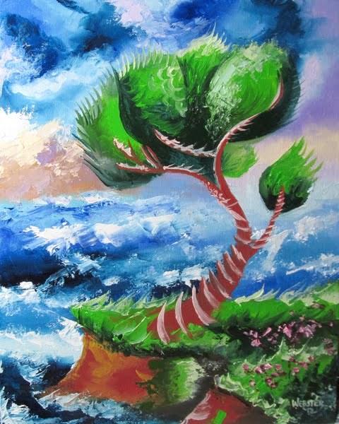 """Mark Webster - Abstraction 17 - Abstract Landscape Oil Painting"" original fine art by Mark Webster"
