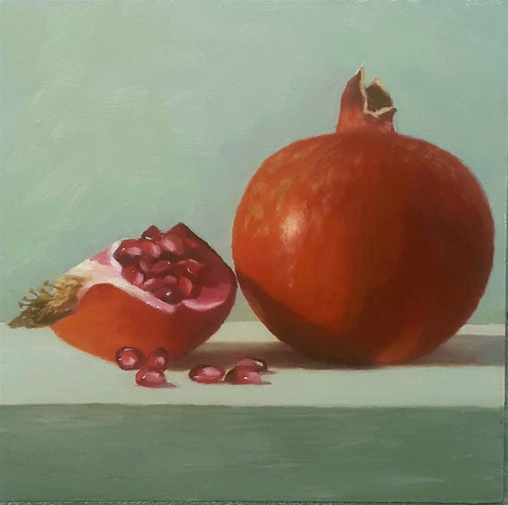 """Pomegranate"" original fine art by Karen Johnston"