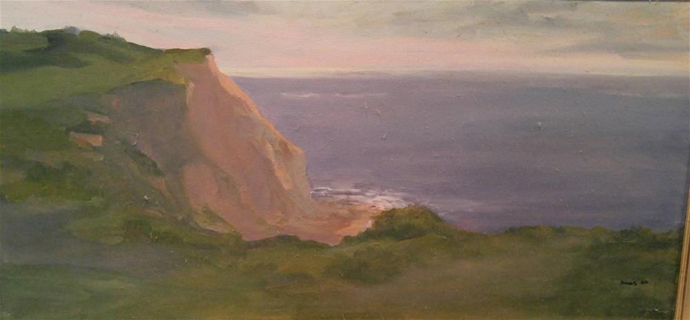 """Block Island Bluffs"" original fine art by angela scully"