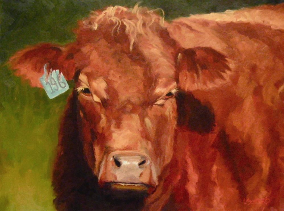 """Big Red"" original fine art by Lisa Sotero"