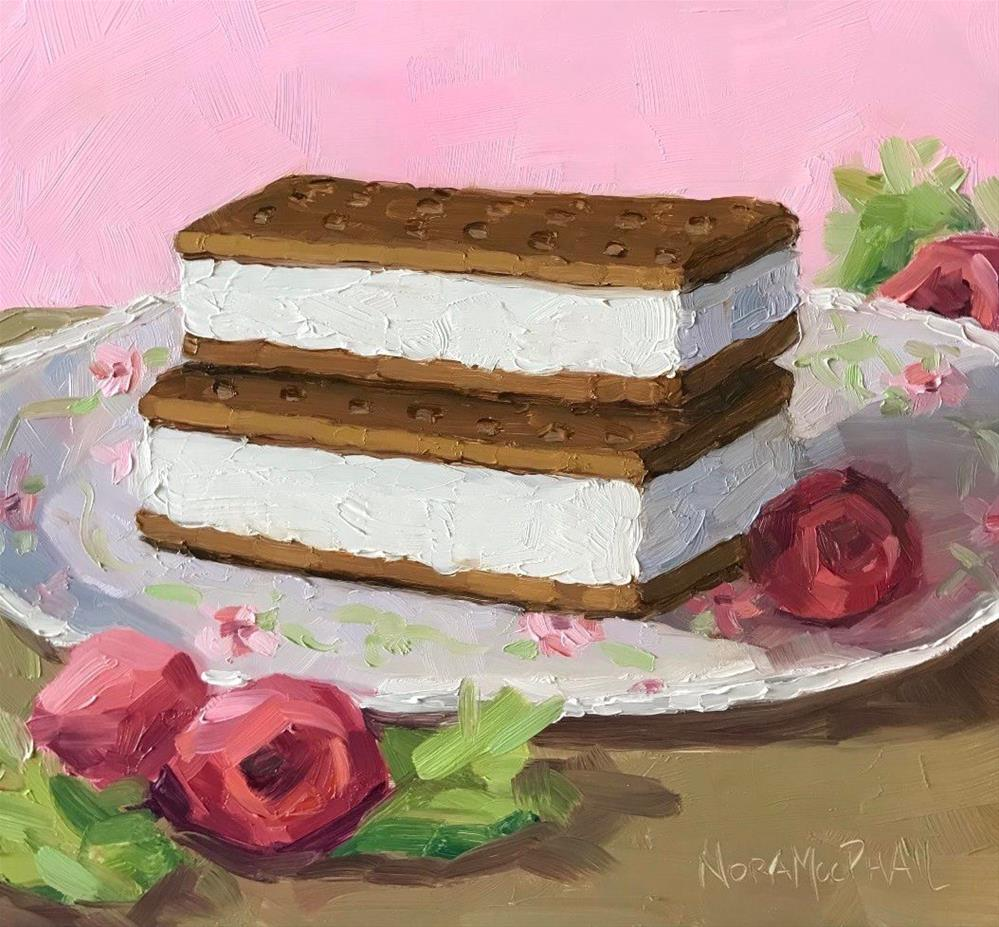 """National Ice Cream Sandwich Day"" original fine art by Nora MacPhail"