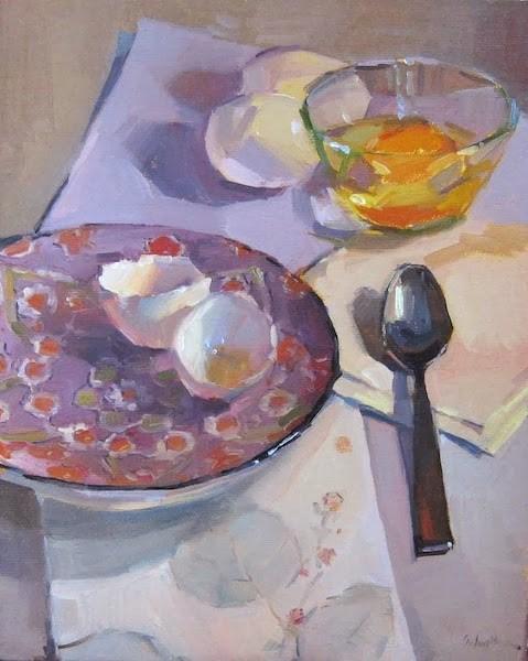 """Amy's Plate"" original fine art by Sarah Sedwick"