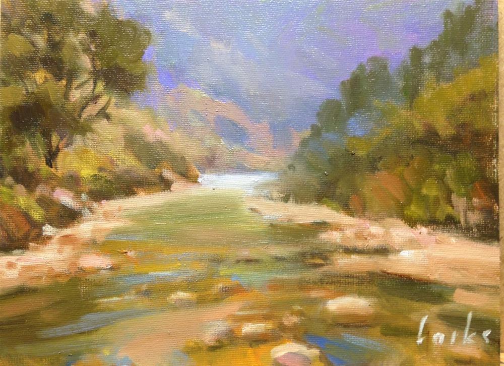 """Down the River"" original fine art by David Forks"