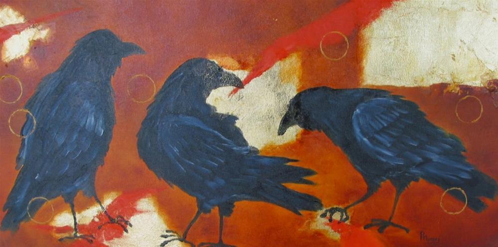 """The Conversation 2"" original fine art by Patricia Murray"