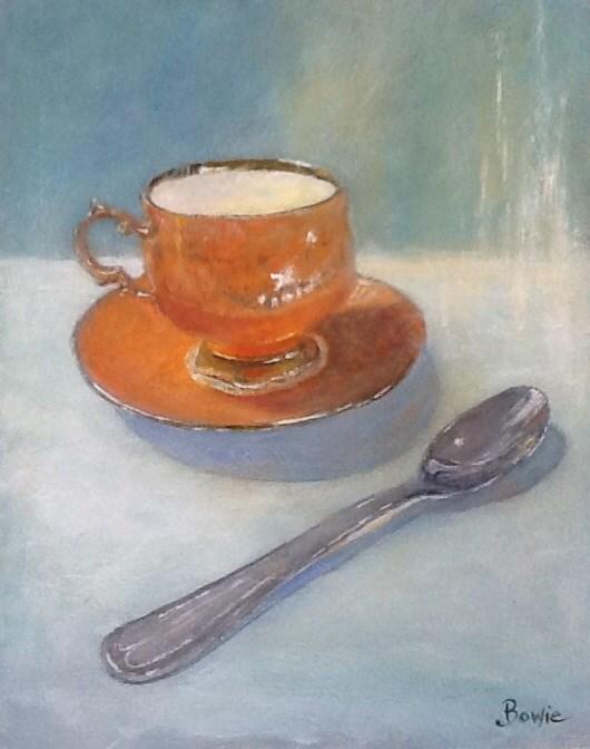 """""""Tea Time"""" original fine art by Maureen Bowie"""