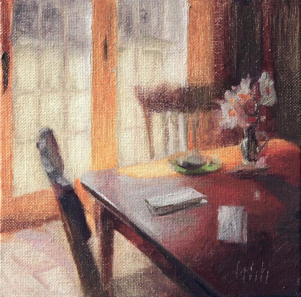 """Interior challenge"" original fine art by Yuehua He"