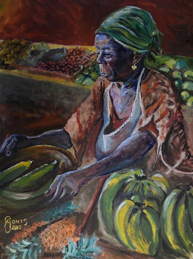 """Basseterre"" original fine art by Fred Jones"