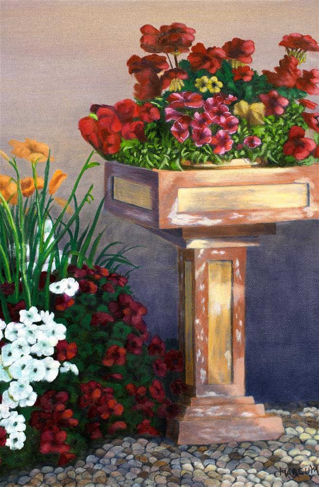 """""""Flower pedestal"""" original fine art by John Marcum"""