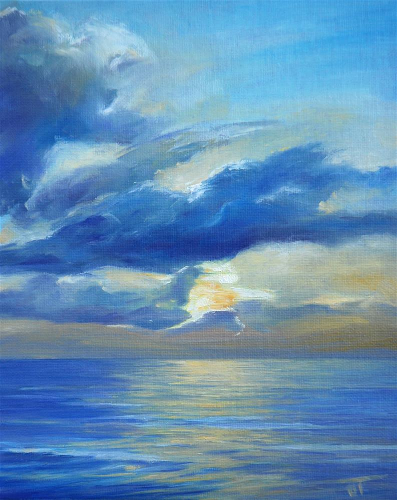 """Gold sunrise"" original fine art by Olga Touboltseva-Lefort"