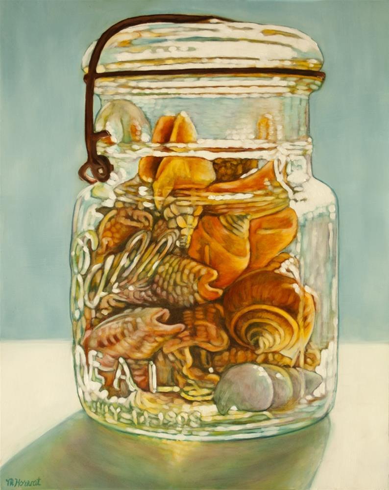 """Laughing Seashells"" original fine art by Margaret Horvat"