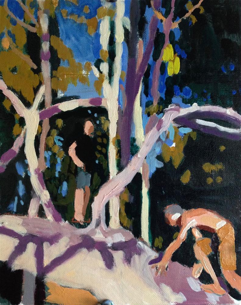 """Young Lions II"" original fine art by Pamela Hoffmeister"