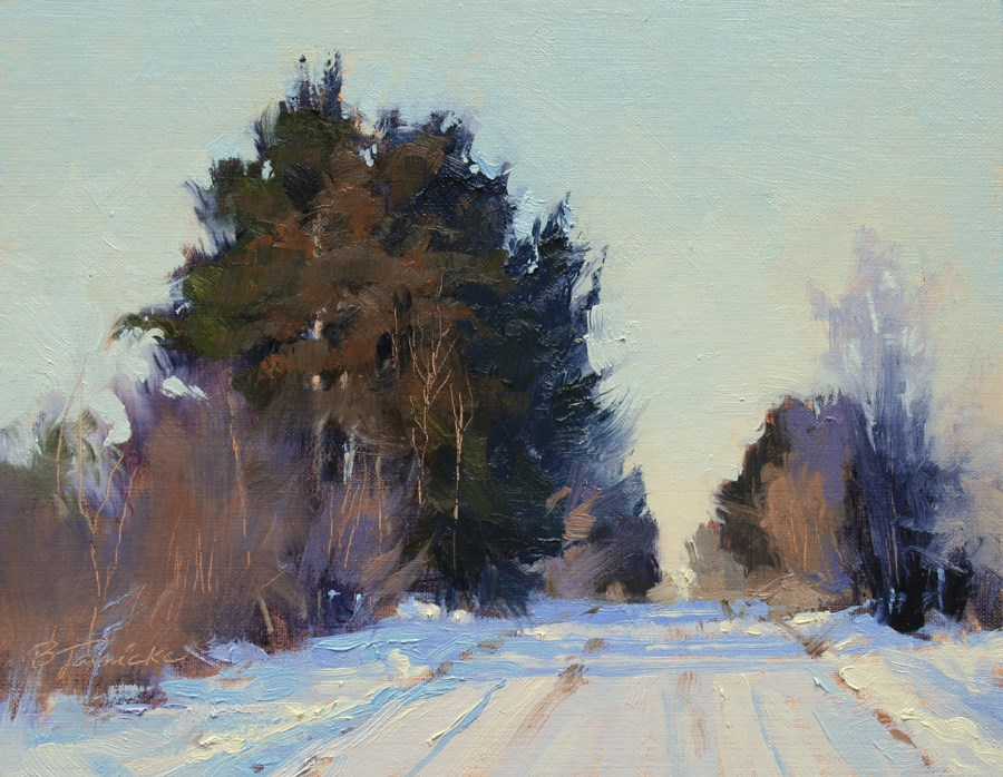 """""""Middle of the Road"""" original fine art by Barbara Jaenicke"""