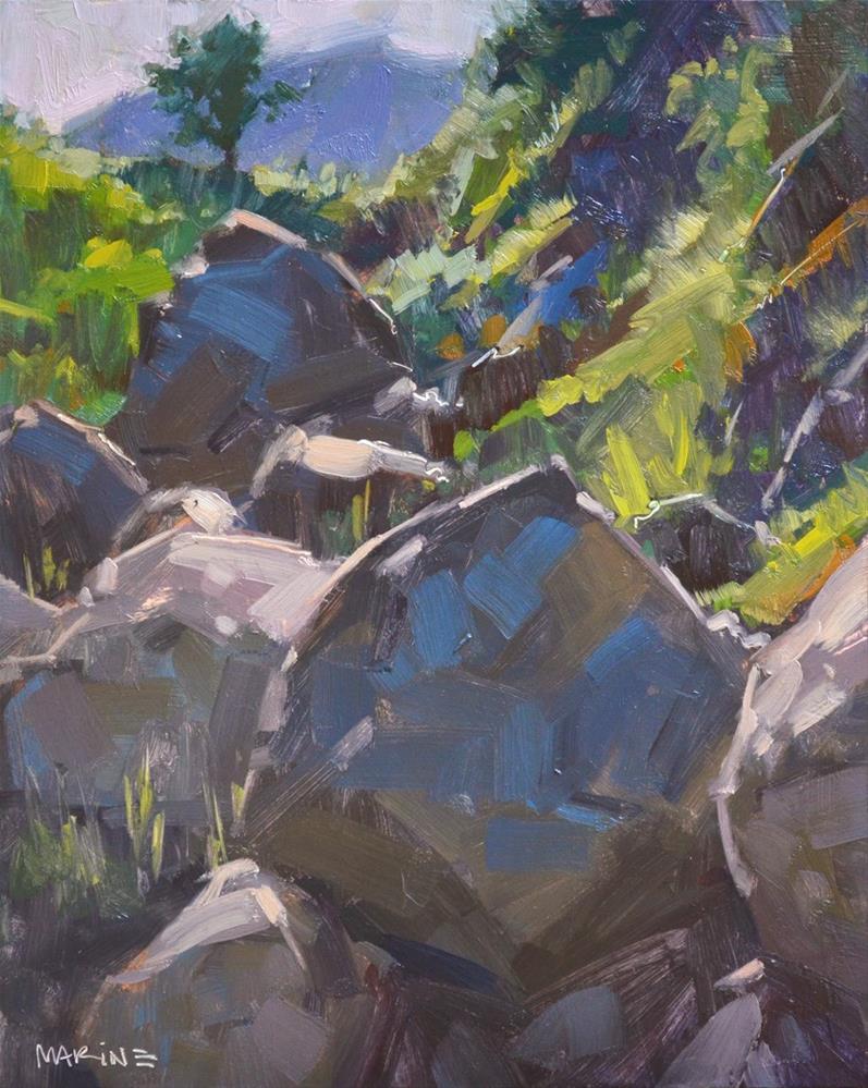 """""""Boulder Valley"""" original fine art by Carol Marine"""