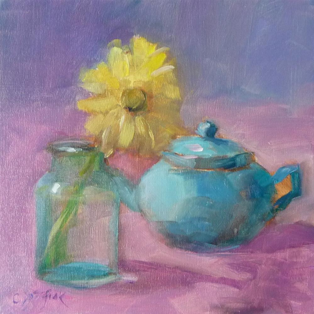 """Yellow Flower"" original fine art by Carol Josefiak"