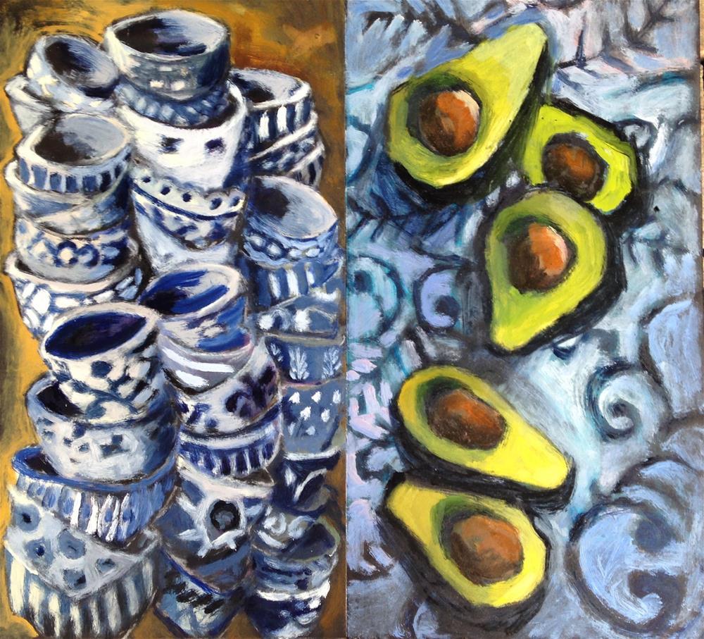 """Guac in the Making"" original fine art by Pamela Hoffmeister"