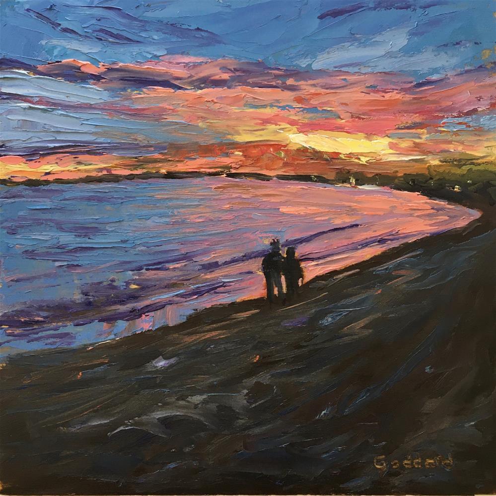"""Kodachrome Beach Walk"" original fine art by Shari Goddard Shambaugh"