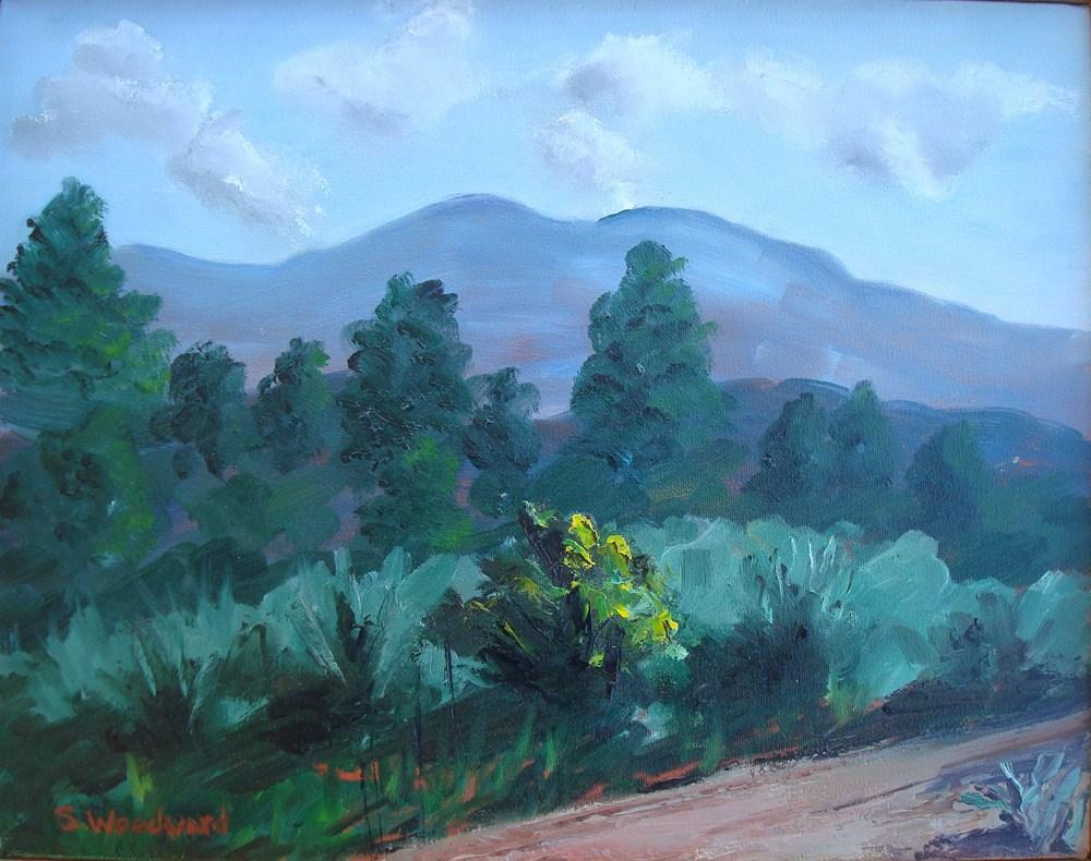 """Taos Mountain"" original fine art by Susan Woodward"