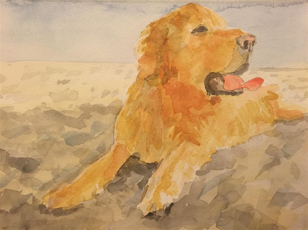 """on the sand"" original fine art by Cindy McDonough"