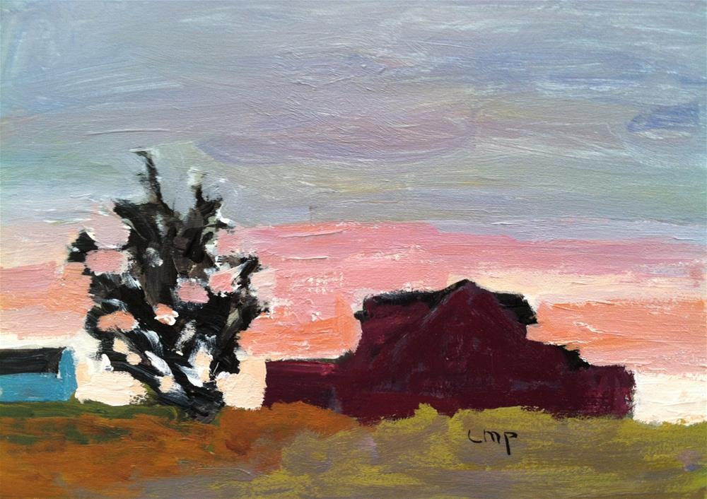 """Sunset"" original fine art by Christine Parker"