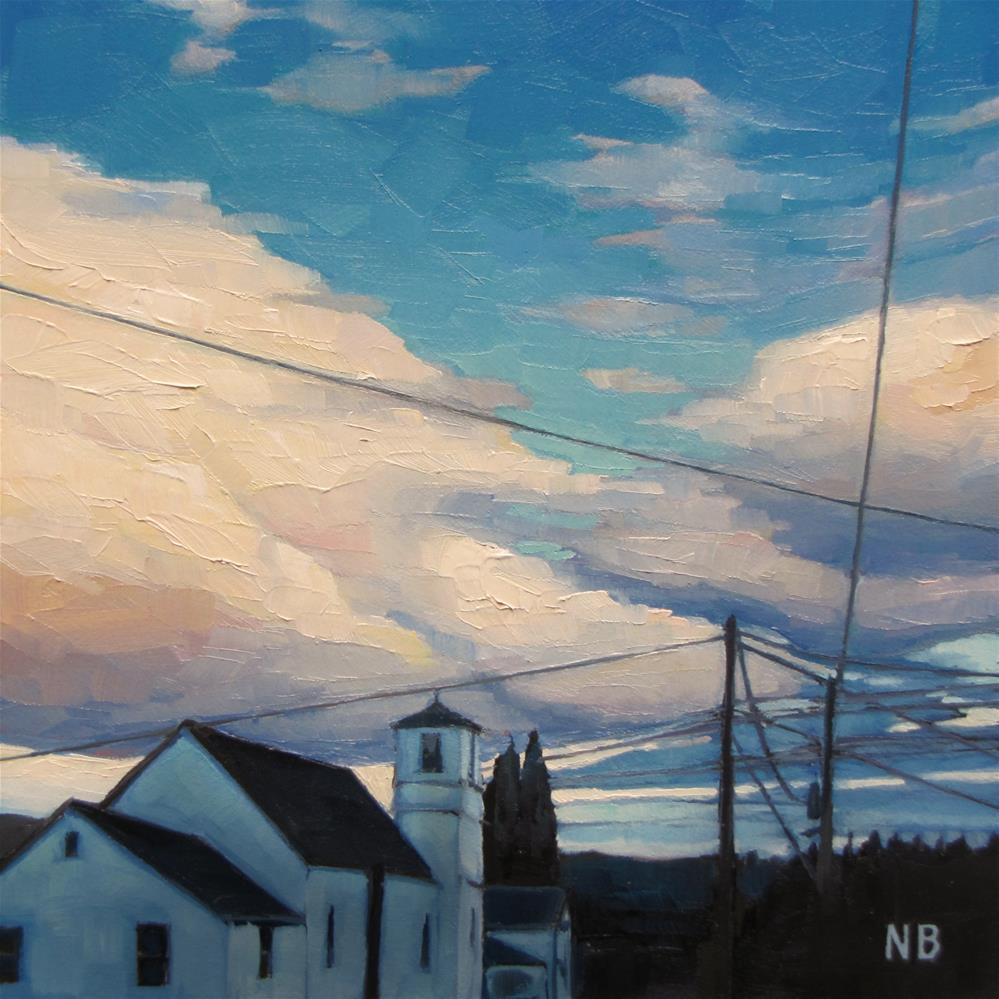 """Skylines"" original fine art by Nora Bergman"