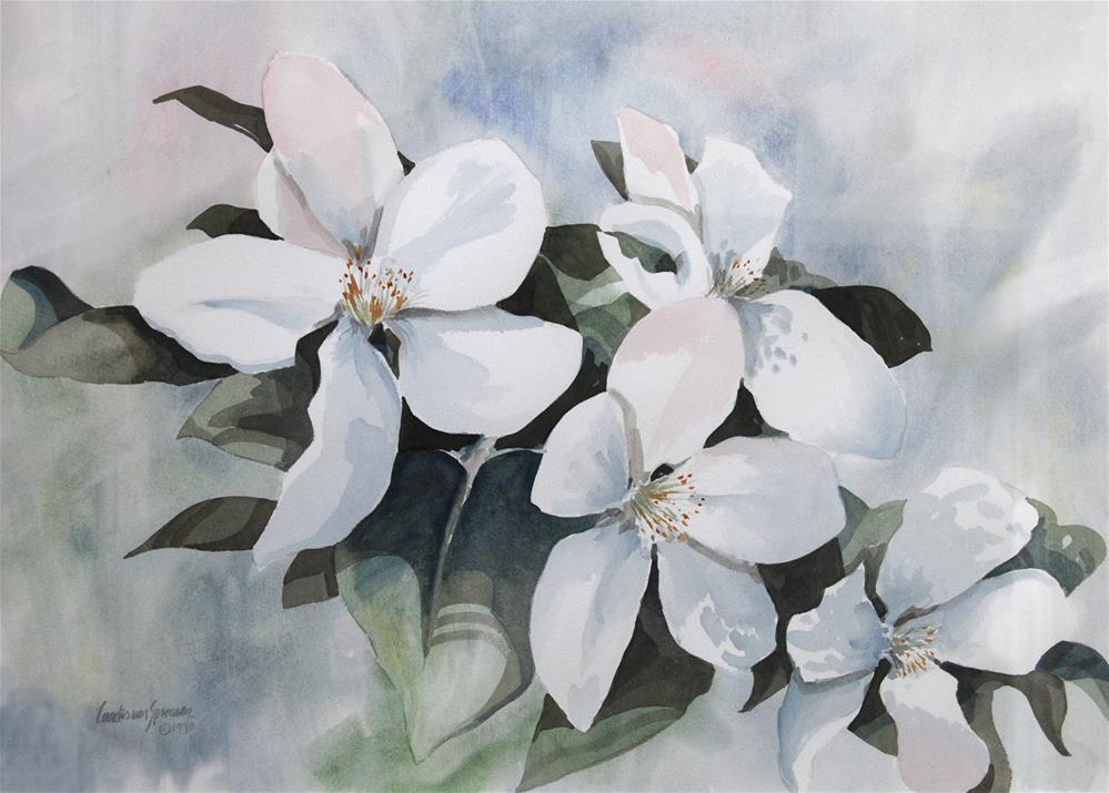 """Apple Blossoms"" original fine art by Cornelis vanSpronsen"