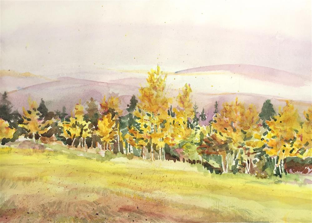 """Alvarado Camp Ground, Colorado"" original fine art by Jean Krueger"
