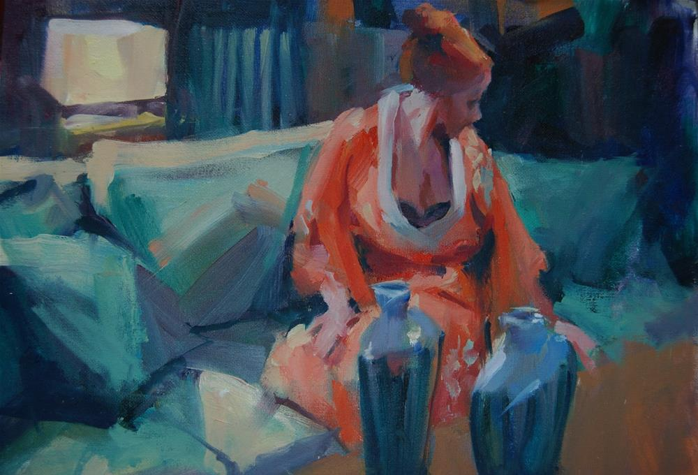 """Orange Kimono"" original fine art by Margaret Dyer"